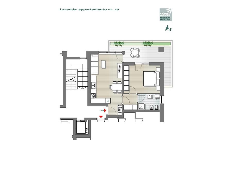 Blumengarten - Lavendel 20, 5. Obergeschoss -- 0