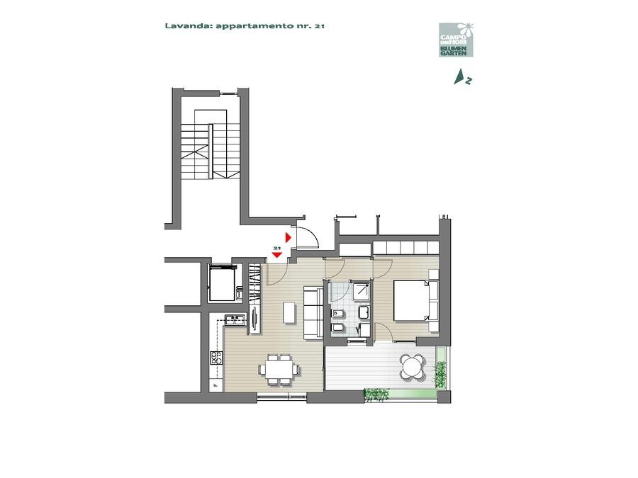 Blumengarten - Lavendel 21, 5. Obergeschoss -- 0