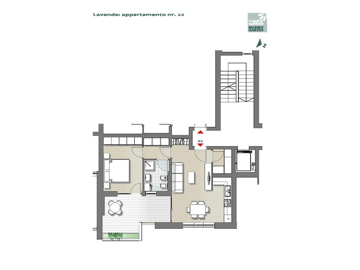Blumengarten-B3-LA22, 5. Obergeschoss -- 0