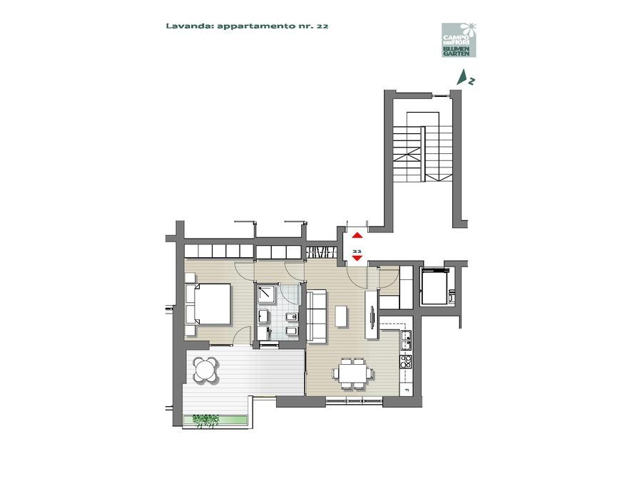 Campo dei Fiori - Lavanda 22, 5° piano -- 0
