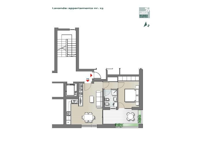 Blumengarten-B3-LA25, 6. Obergeschoss -- 0