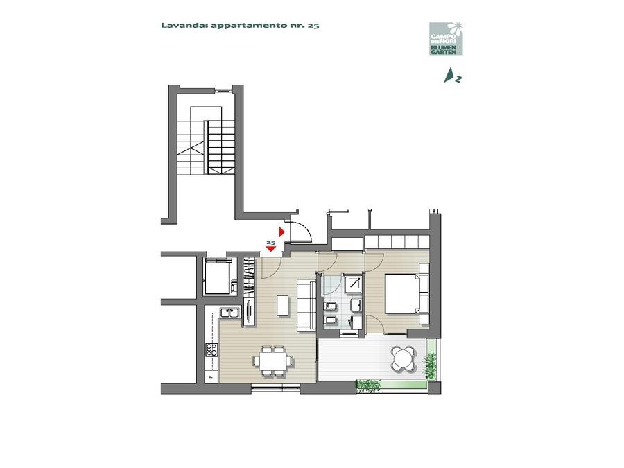 Campo dei Fiori - Lavanda 25, 6° piano -- 0