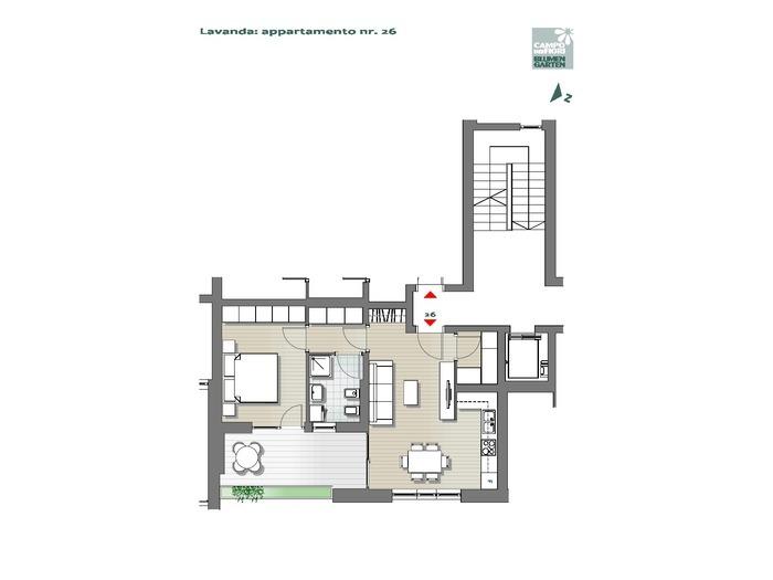 Blumengarten - Lavendel 26, 6. Obergeschoss -- 0
