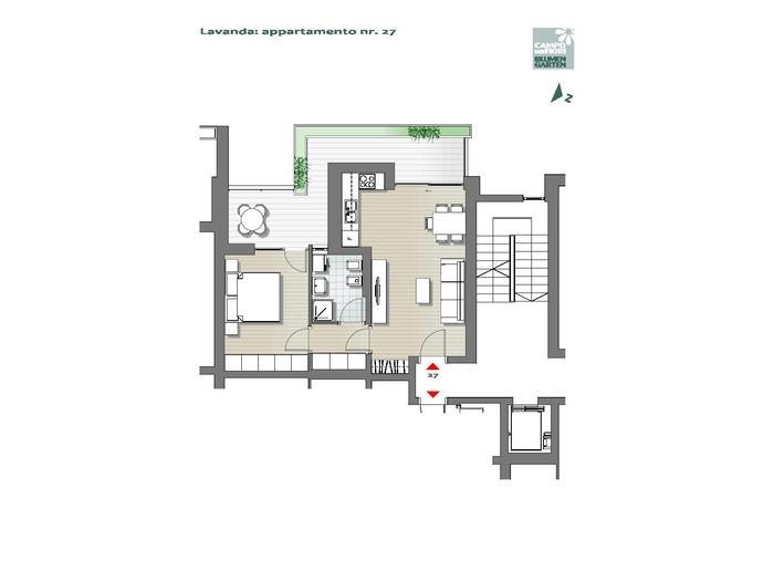 Blumengarten-B3-LA27, 6. Obergeschoss -- 0