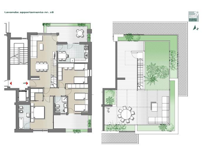 Blumengarten - Lavendel 28, 7. Obergeschoss -- 0