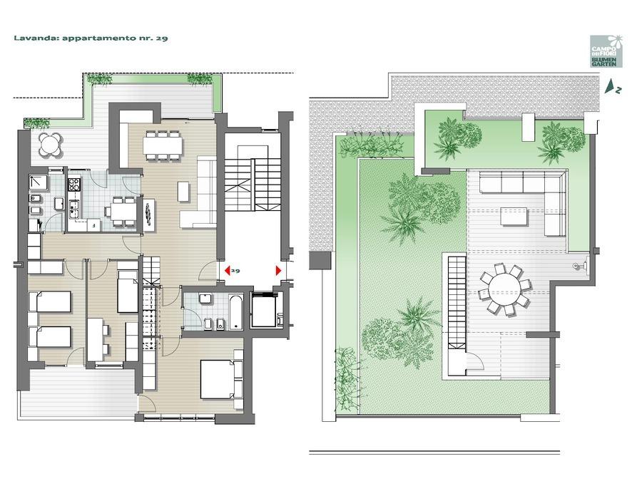Blumengarten - Lavendel 29, 7. Obergeschoss -- 0