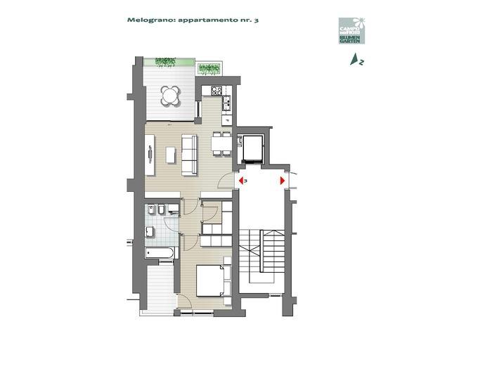Campo dei Fiori-B3-ME3, 1° piano -- 0