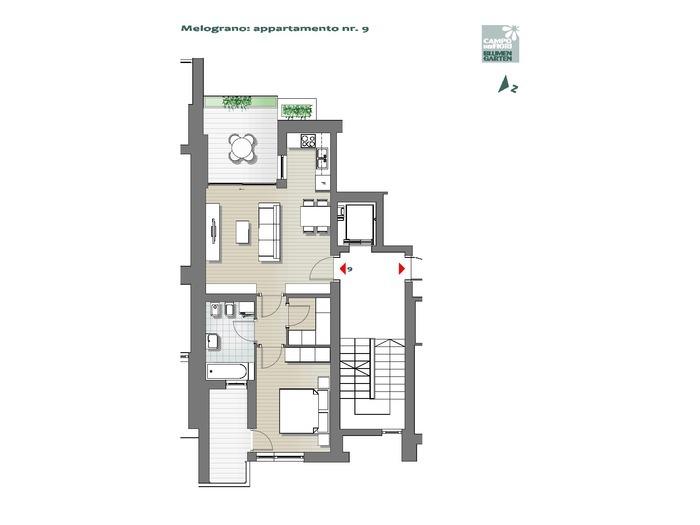 Blumengarten-B3-ME9, 4. Obergeschoss -- 0