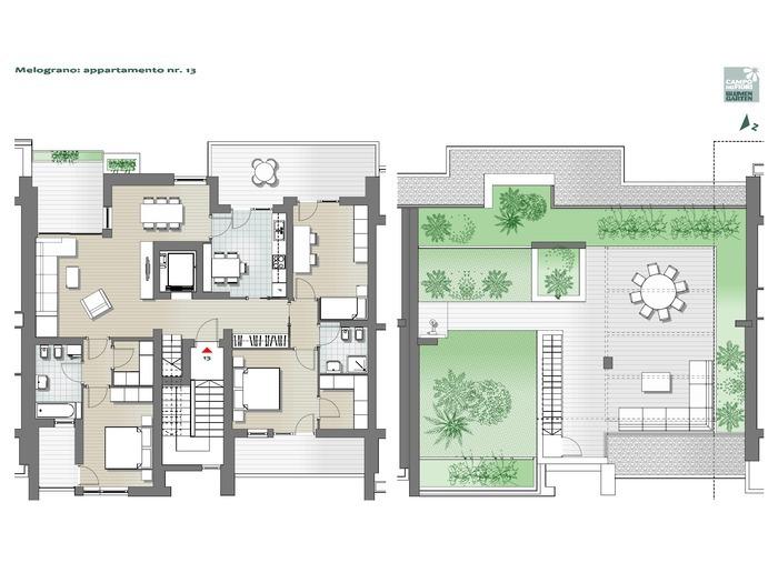 Blumengarten - Granatapfel 13, 6. Obergeschoss -- 0