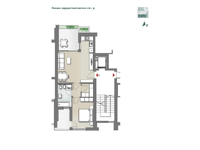 Blumengarten-B3-RO3, 1. Obergeschoss -- 0
