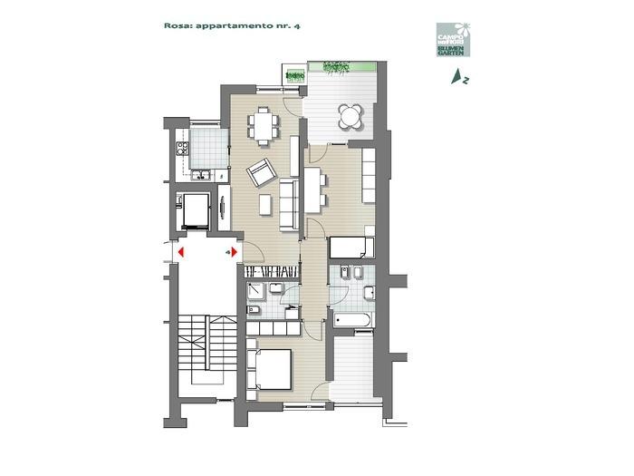 Campo dei Fiori-B3-RO4, 1° piano -- 0