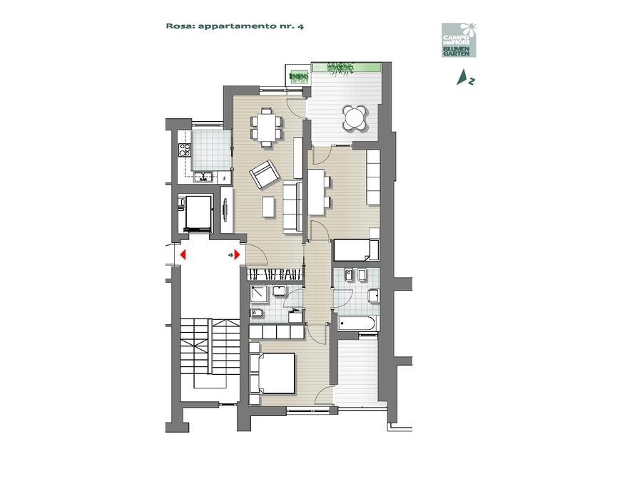 Campo dei Fiori - Rosa 04, 1° piano -- 0