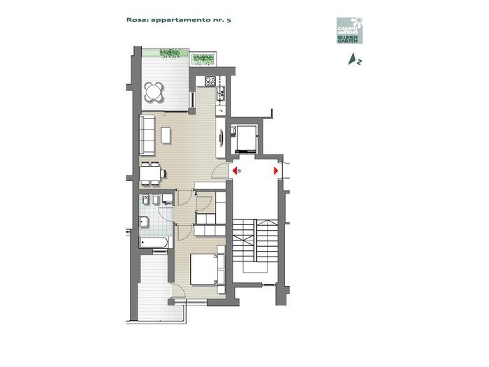 Blumengarten - Rosa 05, 1. Obergeschoss -- 0