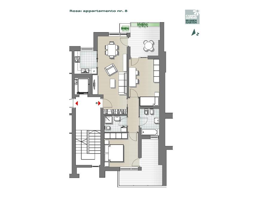 Campo dei Fiori - Rosa 08, 3° piano -- 0