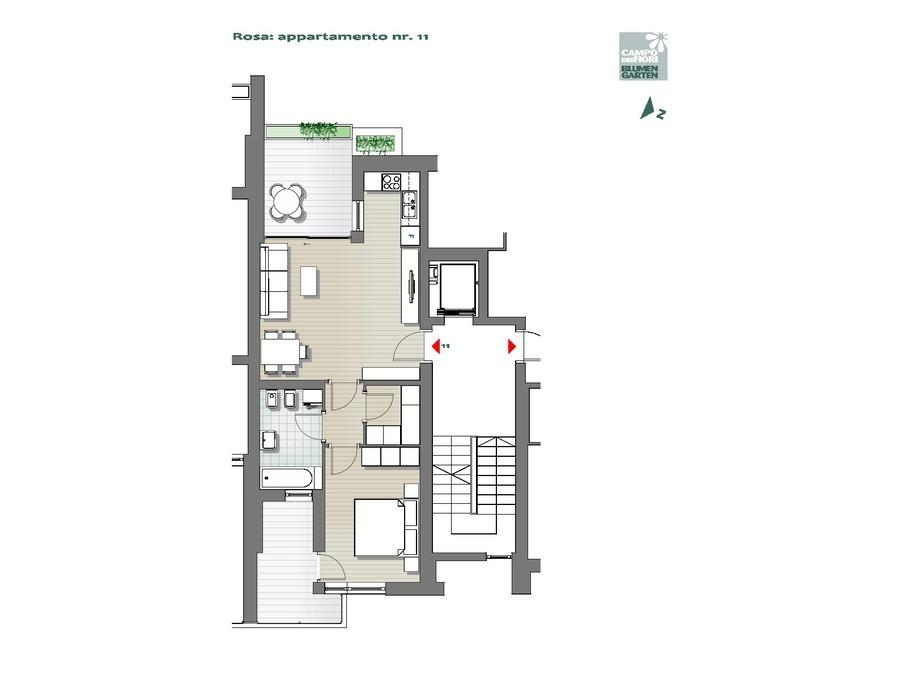 Campo dei Fiori - Rosa 11, 5° piano -- 0