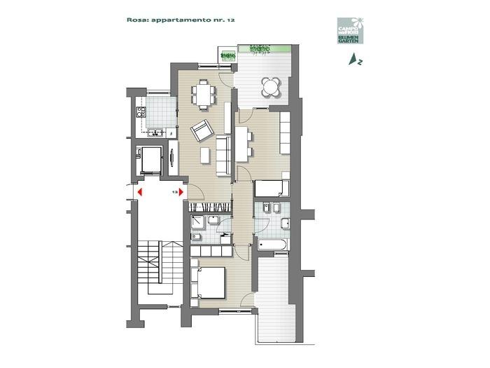Blumengarten - Rosa 12, 5. Obergeschoss -- 0