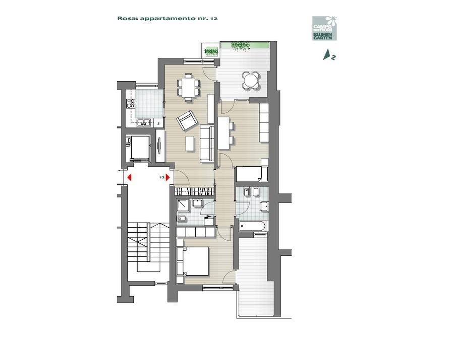 Campo dei Fiori - Rosa 12, 5° piano -- 0