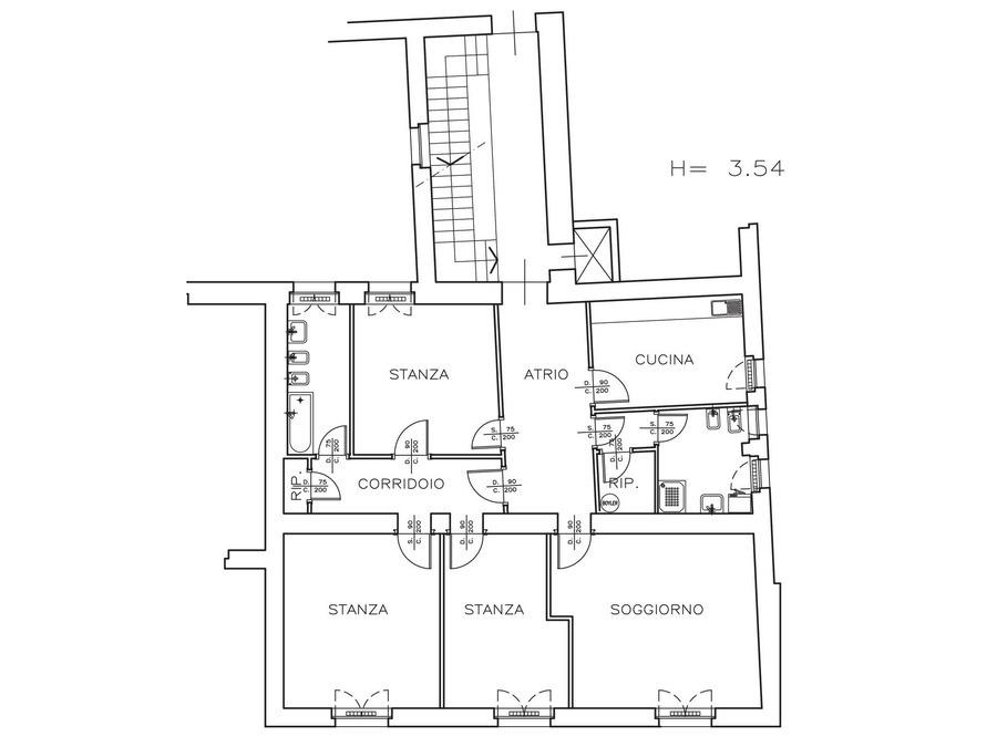 Appartamento piazza Vittoria 47 - 2°piano -- 0