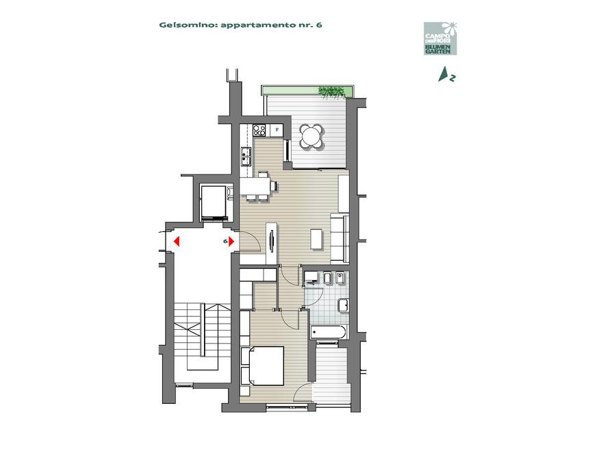 Blumengarten - Jasmin 06, 3. Obergeschoss -- 0