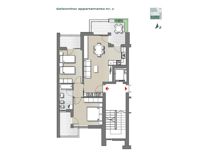 Blumengarten - Jasmin 07, 3. Obergeschoss -- 0