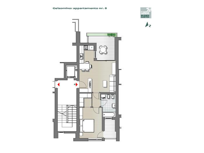 Blumengarten - Jasmin 08, 4. Obergeschoss -- 0