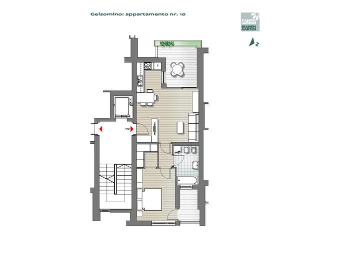 Campo dei Fiori - Gelsomino 10, 5°piano -- 0