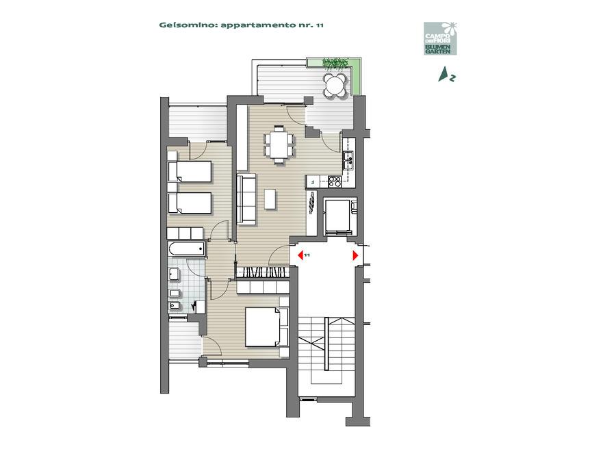 Campo dei Fiori - Gelsomino 11, 5°piano -- 0