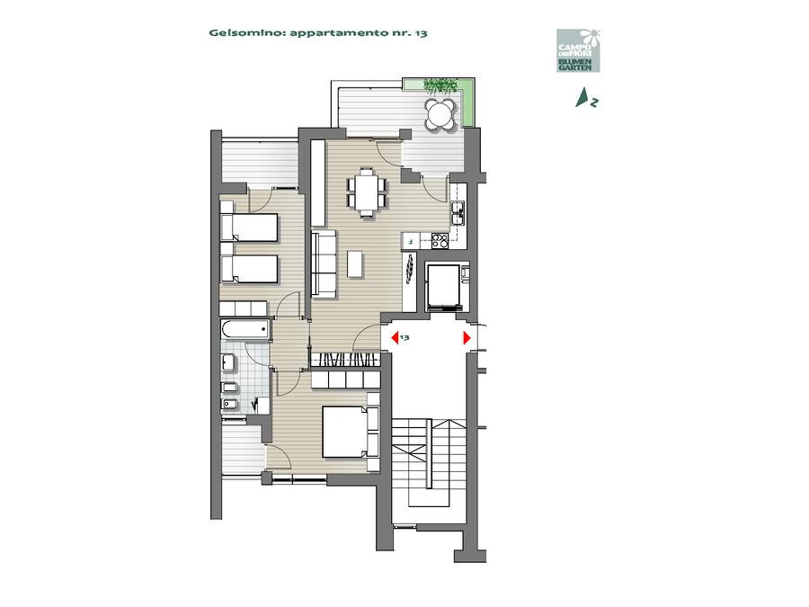 Blumengarten - Jasmin 13, 6. Obergeschoss -- 0
