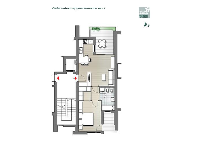 Blumengarten - Jasmin 02, 1. Obergeschoss -- 0