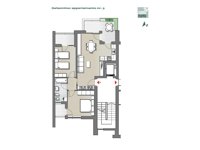 Blumengarten - Jasmin 03, 1. Obergeschoss -- 0