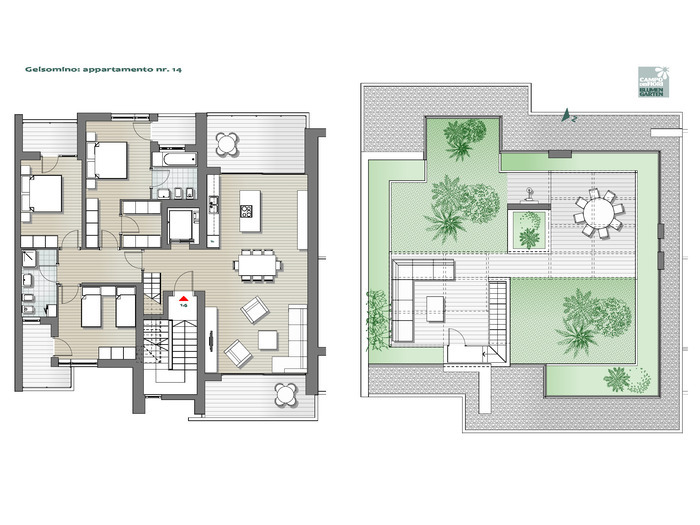 Blumengarten - Jasmin 14, 7. Obergeschoss -- 0