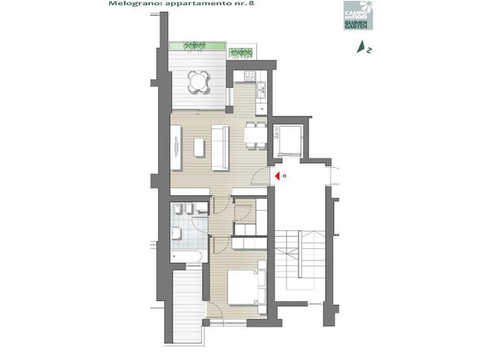 Campo dei Fiori - Melograno 08, 3° piano -- 0