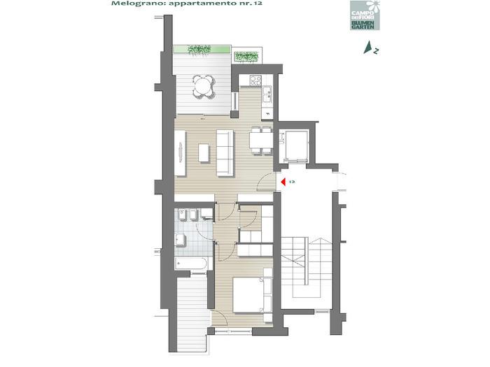 Blumengarten - Granatapfel 12, 5. Obergeschoss -- 0