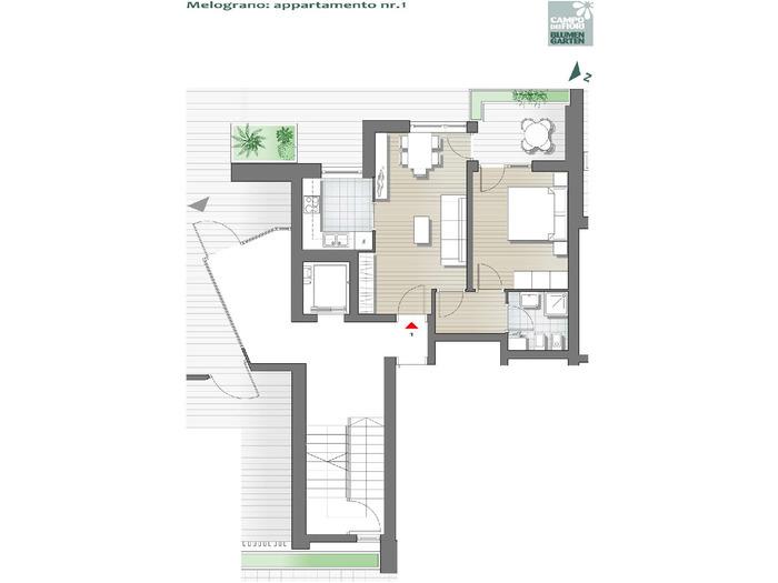 Blumengarten - Granatapfel 01, Erdgeschoss -- 0