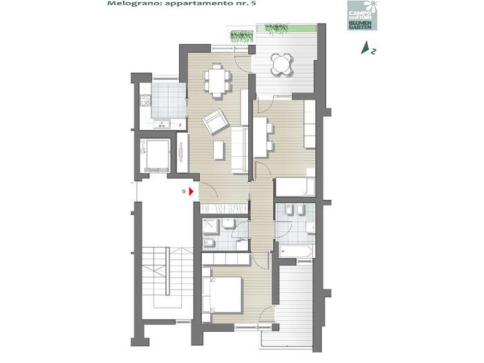 Blumengarten - Granatapfel 05, 2. Obergeschoss -- 0
