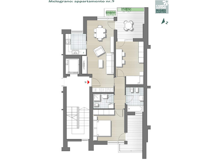 Blumengarten - Granatapfel 09, 4. Obergeschoss -- 0