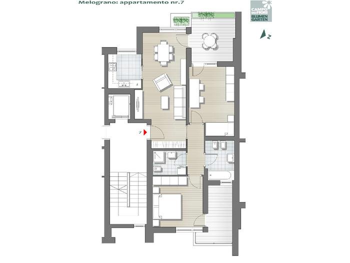 Blumengarten - Granatapfel 07, 3. Obergeschoss -- 0
