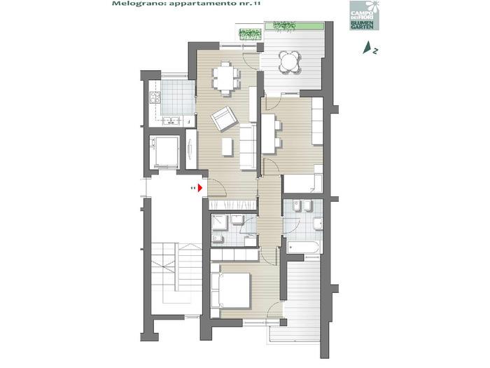 Campo dei Fiori - Melograno 11, 5° piano -- 0