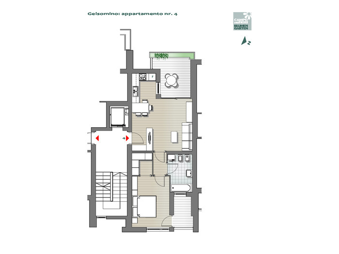 Blumengarten - Jasmin 04, 2. Obergeschoss -- 0